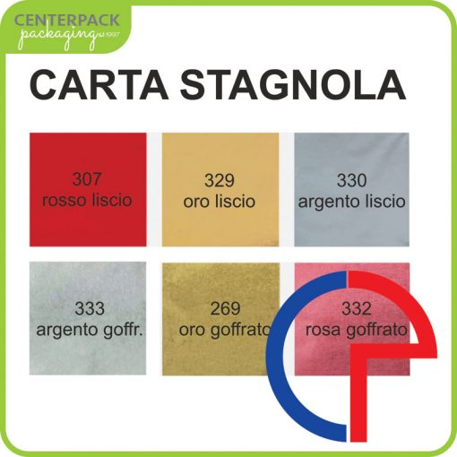 carta stagnola colorata