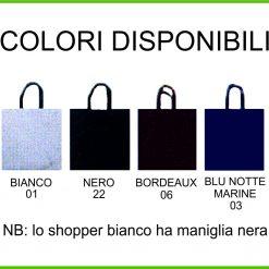 colori borse in tnt plastificato personalizzate