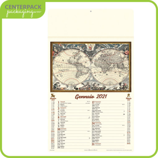 Calendario antiche mappe 2020